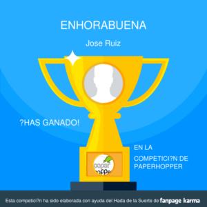 Ganador Sorteo José Ruiz