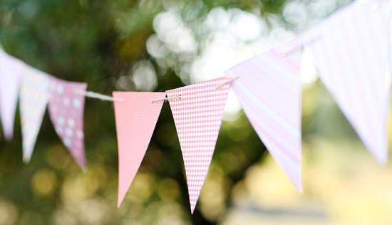Banderines de papel de regalo