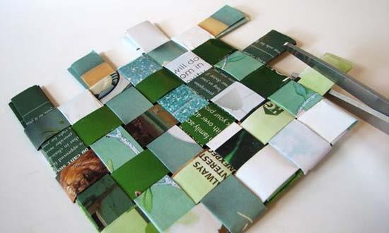Posavasos de papel reciclado